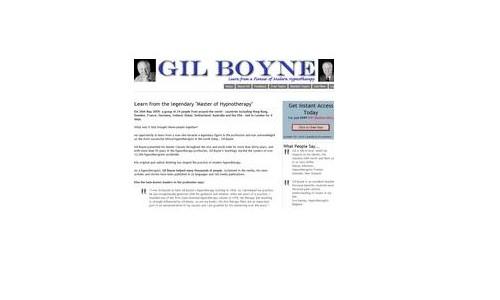 Hypnotherapy with Gil Boyne Hypnosis Legend